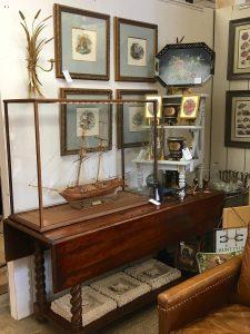 Antique glass display