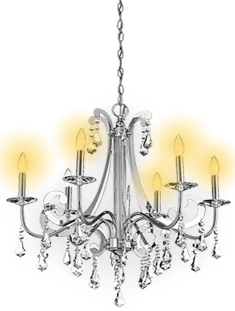 Chandelier-silver-light